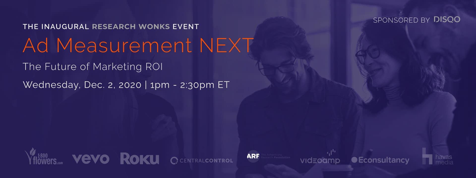 Ad Measurement NEXT: The Future of Marketing ROI